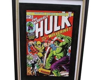 INCREDIBLE HULK #181 -  NOVEMBER - 1999, German reprint, Comics Art Paintings, Oil on Canvas, 20 x 30 in