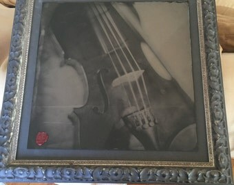 """14x14"""" Wet Collodion Process Tintype Framed and signed"""