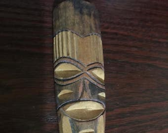 Wooden African Mask Keyring/Keychain