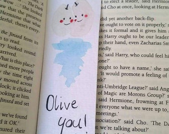 Valentines book lover gift bookmark!