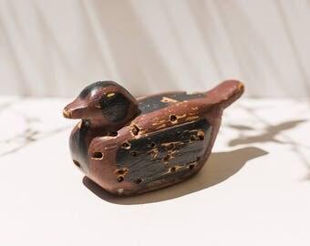 Antique Wood Bird, Wood Duck Decoy, Bird Decoy, Decorative Bird, Distressed, Wood Bird