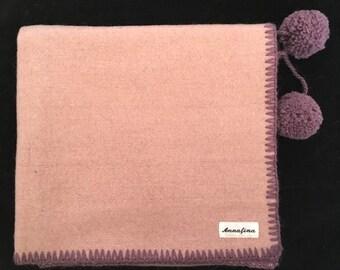 Wool baby blanket