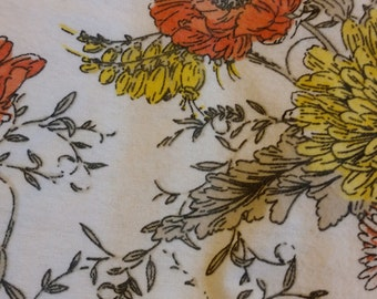 Beautiful vintage floral blanket