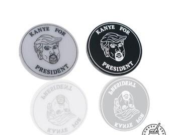 Kanye X Trump Pin Badge, magnet, Kanye West for President