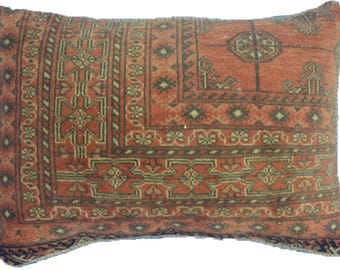Large Vintage Persian Turkmen Cushion 60x40cm