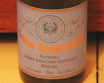 Vintage White Wine: Schloss Reinhartshausen, Riesling, Germany, 1989