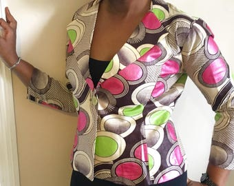 Modern African Print Jacket