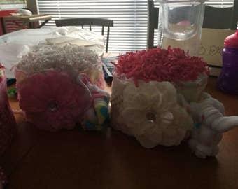 Diaper Cake Baby Shower Center Pieces
