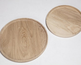 Oak tray/solid oak table tray/round table top