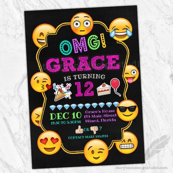 Emoji birthday party invitations emojicons emojis smiley faces il570xn stopboris Image collections