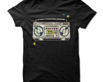 Boombox Shirt - Old School Boombox T-shirt - Retro T-shirt - Cassette Player Old School Tshirt - Gift For Boombox Fans - Music Tshirts