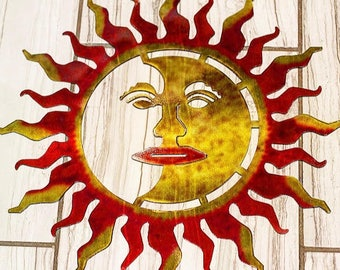 Metal Sun, Laser Cut Metal Sun, Laser Cut Wall Art, Wall Art,