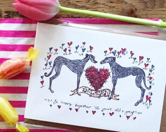 Greyhound Engagement Card
