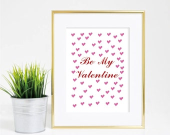 Valentines Day printable art,Buy 1 Get 1 FREE,  Girly Valentines Day, art print valentines, valentine art print