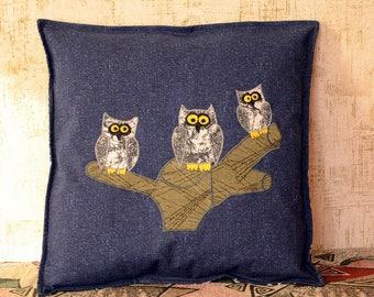 Owl Pillowcase Pillow Cover Case Designer Birthday Gift Idea For Home Decor
