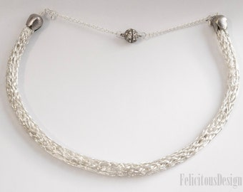 Celtic Knit Necklace Silver Wire