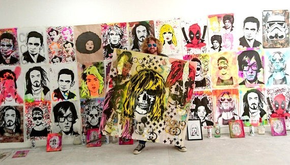 Graffiti Gucci Kurt Cobain LARGE Collage