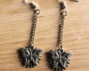 Butterfly Steampunk Earrings