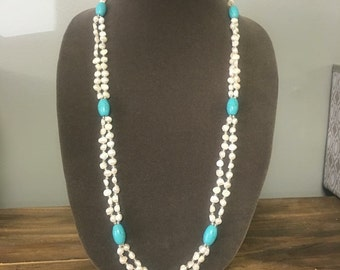 Freshwater Pearl & Turquoise