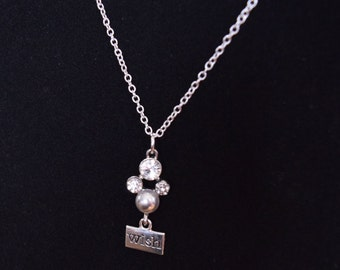 One of a Kind * Disney Inspired Hidden Mickey Wish Necklace