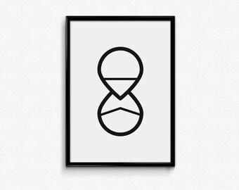 Running out of time / digital print / motivational / inspiration / artwork / printable art / wall art / modern / minimalist / decoration