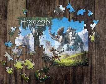Aloy Puzzle Personalized Horizon Zero Dawn Jigsaw Puzzles, Custom Name Photo Puzzle, Great Gift for a Gamer! Horizon Game Puzzles