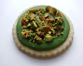 Shortbread Cookies, Matcha Green Tea Cookies with Pistachios, Best Shortbread Cookies, Matcha Icing