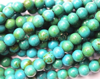 Chrysocolla Beads,4mm 6mm 8mm, Full Strand 15.5 inches, Gemstone Beads, Beading Suppliers, Jewelry Suppliers