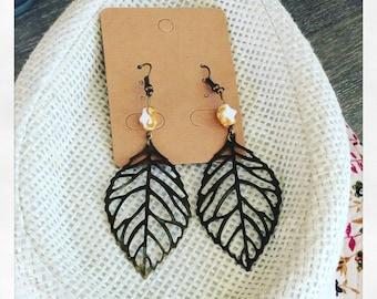 Long, light earrings