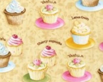Cotton Fabric Quilting Robert Kaufman Cupcakes