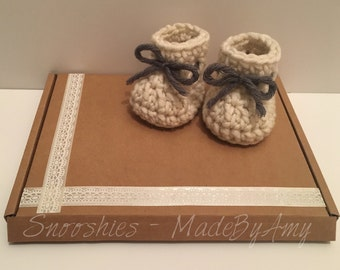 Crochet baby booties! Made To Order! Made in the UK
