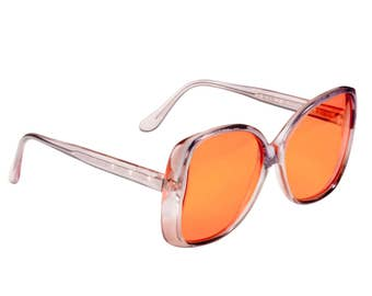Vintage sunglasses 70s, made in France by Argos. Oversized sunglasses / Designer sunglasses / Vintage eyewear