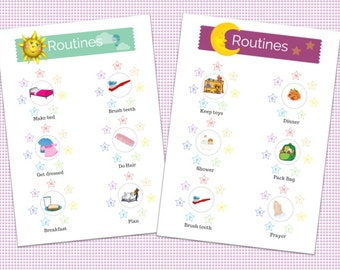Printable Kids Routine Chart-Weekly