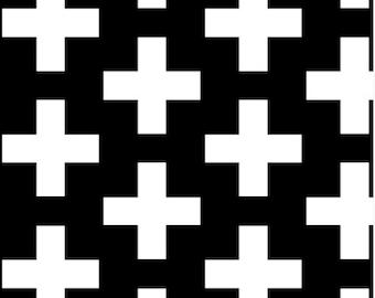Swiss Cross Fabric by littlearrowdesigncompany
