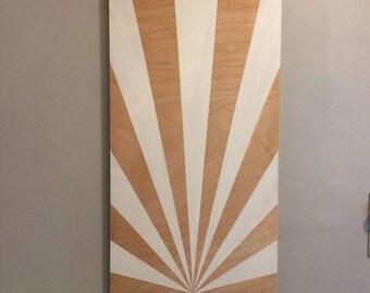 Sunburst wall painting