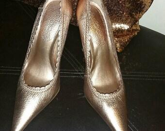 LOWERED!! Bronze Aldo shoes