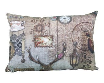 Pillow rectangle vintage deer