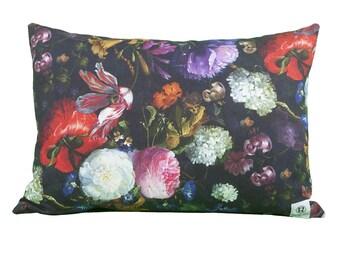 Pillow rectangle flower bouquet