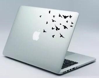 Flock of birds Laptop Decal | Ravens | MacBook | HP | Lenovo | DELL | Laptop | Car | Window | Skin Sticker | flying birds