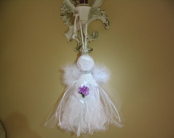 Angel Tassel Home Decor Wedding Decoration Shabby Chic Ornament Lace Angel Accent Collection # 03