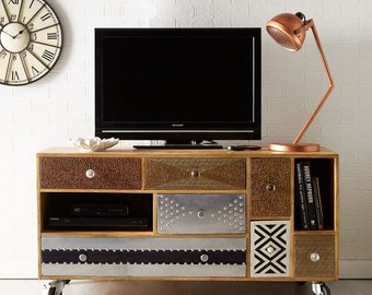 Sorio large TV unit/cabinet -100% reclaimed wood - Eco friendly