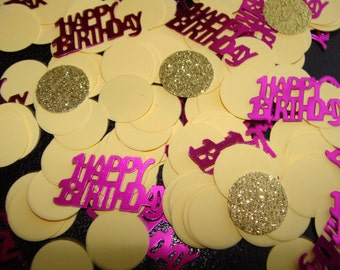 Happy Birthday Confetti (Yellow, Gold and Purple) 150ct