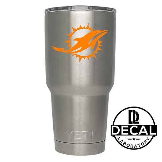 Yeti Decal Sticker - Miami Dolphins Decal Sticker For Yeti RTIC Rambler Tumbler Coldster Beer Mug