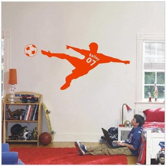 Custom Name Soccer Player Jersey Wall Decal - Nursery Room Decor - Kids Room Wall sticker - Nursery Wall Decal  - Home Decor - Sport Decal