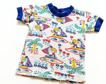 Baby shirt 2Y retro HiPster Terry cloth shirt sweater 80 OldSchool VinTage