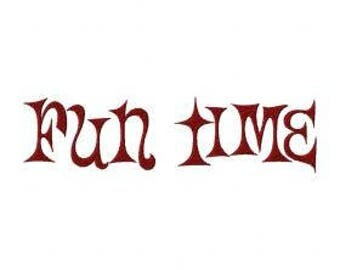 Fun Time Font Embroidery Font Set Instant Digital download