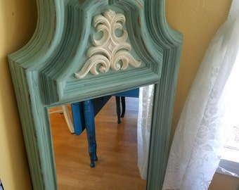 Turquoise Dresser Mirrors (set of 2)