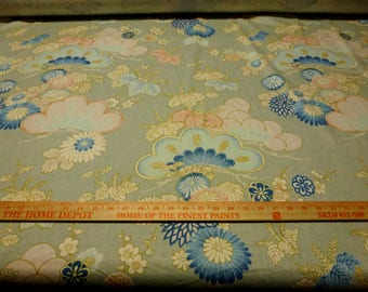 """Vintage - 5 yd section - ca 1981 Waverly """"Matsu Bishi"""" Asian style print from the Miyabi Collection"""