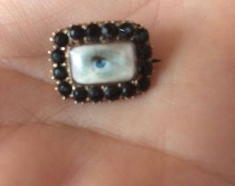 Miniature Portrait Lover Eye ...SOLD SOLD SOLD