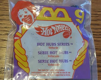 1995 McDonald's Happy Meal - Hot Wheels Mattel – Hot Wheels Hot Hubs Series Vehicle – Purple Package No 9